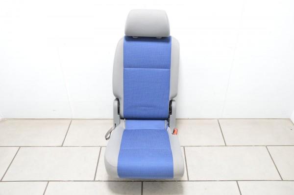 VW Caddy 2K 04-09 Sitz 1. Fahrgastreihe hinten rechts Stoff greyblue artgrey EV