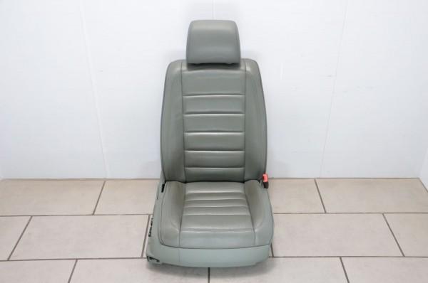 Sitz el verstellbar Beifahrersitz Sitzheizung Leder VW Touareg 7L schilfgrün MJ