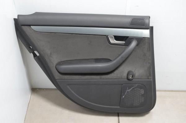 Türverkleidung Türpappe hinten links Alcantara Audi A4 8E B7 schwarz N7U / NK