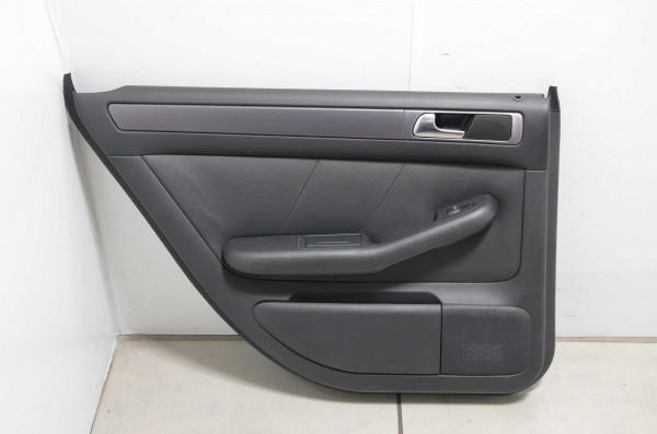 Türverkleidung Türpappe hinten links Buffalinoleder Audi A6 4B schwarz N1H/MB