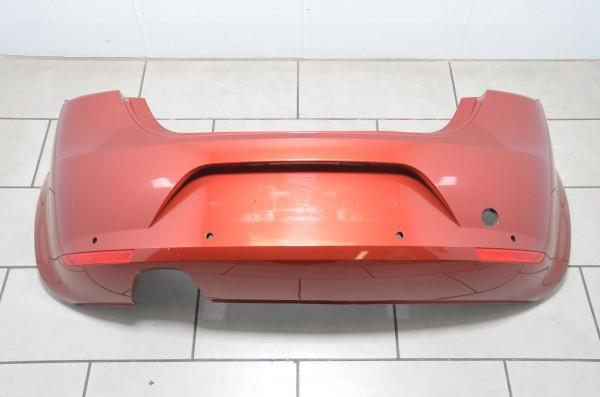 Stoßstange Stoßfänger hinten Einparkhilfe PDC Seat Leon 1P rot LS3X 1P0807421