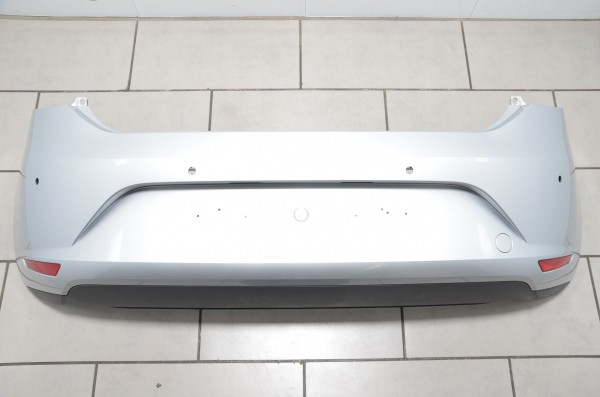 Stoßstange Heckschürze Stoßfänger hinten PDC Seat Leon 5F silber LX7W 5F0807421A