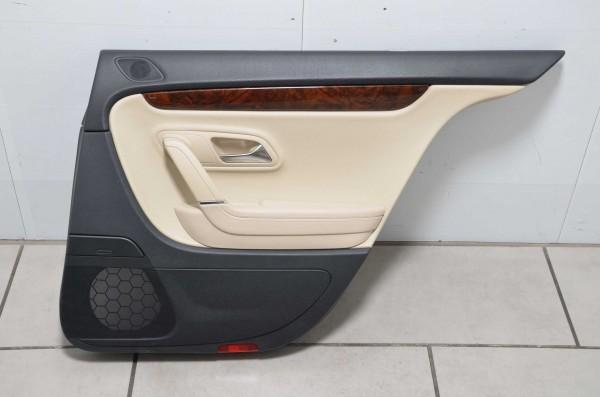 Türverkleidung Türpappe hinten rechts VW Passat CC schwarz beige XF 3C8867212P