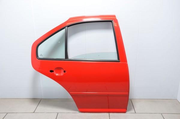 Tür Autotür hinten rechts Beifahrerseite Türblech VW Bora Limousine 1J rot LP3G