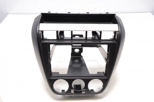 VW Fox 5Z 05-10 Radioschacht mit Blende schwarz silber 5Z0858061A