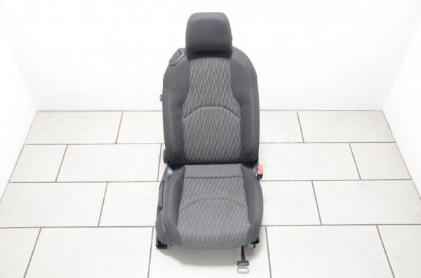 Sitz rechts Beifahrersitz Sitzheizung Seat Leon SC Coupe 5F Stoff schwarz grau
