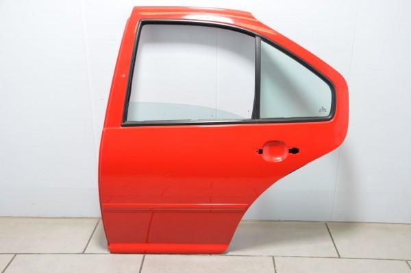 Tür Autotür Türblech hinten links VW Bora Limousine 1J Fahrerseite rot LP3G