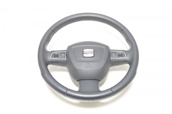 Seat Exeo 3R Lenkrad Multifunktionslenkrad Sportlenkrad Leder schwarz 3R0419091D
