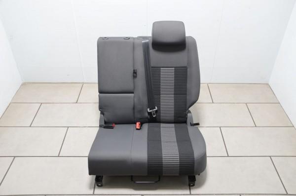 VW Golf Plus 5M Rücksitz Rückbank Rücksitzbank hinten links Stoff anthrazit 06